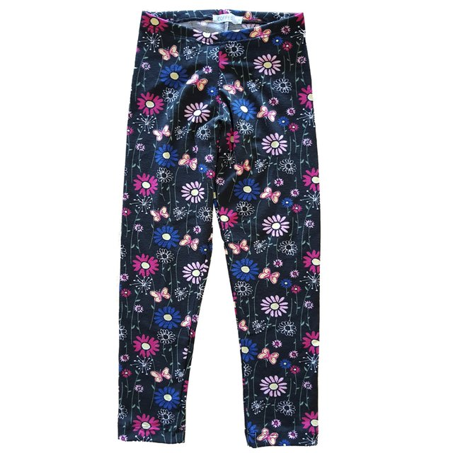 Legging Black Flowers (28792)