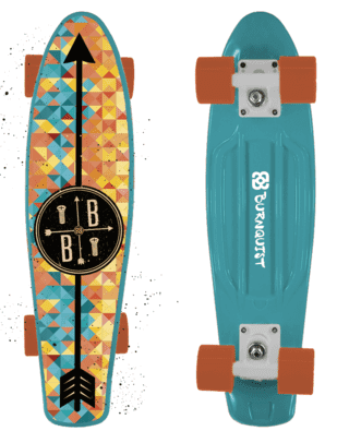 Skate Mini Cruiser Bob Burnquist ES093 - Azul - Multilaser