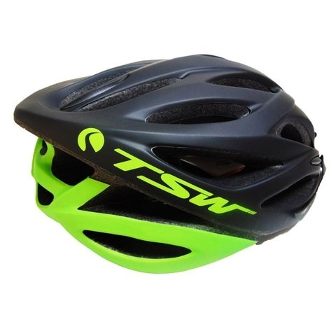 Capacete Tam (L) Plus 85 Preto/Verde TSW - Bike Time