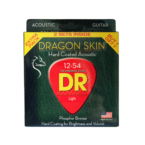 Kit 2 Encordoamentos DR Strings DSA2-12 Hard Coated Acoustic - EC0322