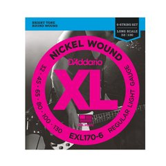Encordoamento D'Addario XL Light p/ Baixo 6 Cordas EXL170-6  - 0.032-0.130 - EC0133