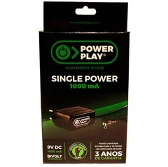Fonte Power Play SINGLE POWER 9VDC - 1000 mA - FT0041 - comprar online