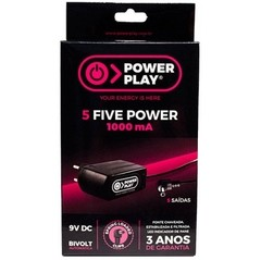 Fonte Power Play FIVE POWER 9VDC - 1000 mA - FT0042 - comprar online