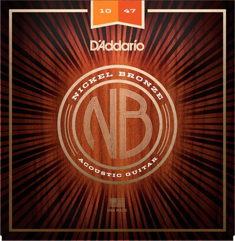 Encordoamento D'Addario P/ Violão Nickel Bronze NB1047 0.10/0.47 - EC0295