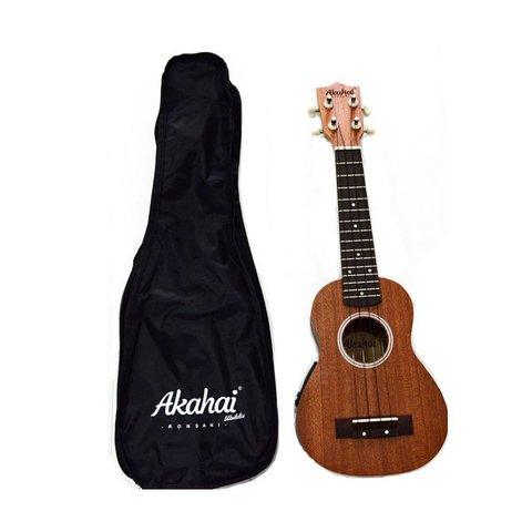 Ukulele Akahai Soprano C/ Capa UK100E Elétrico - Natural - UK0014