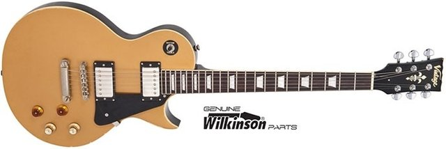 Guitarra Vintage Les Paul V100MR JBM Gold Top - GT0244