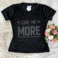 T- shirt gola careca manga curta LOVE MORE
