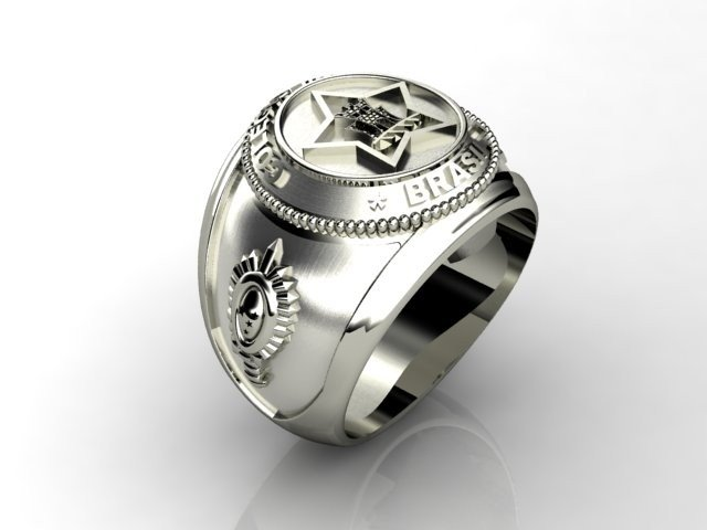 Silver Military College Ring - buy online