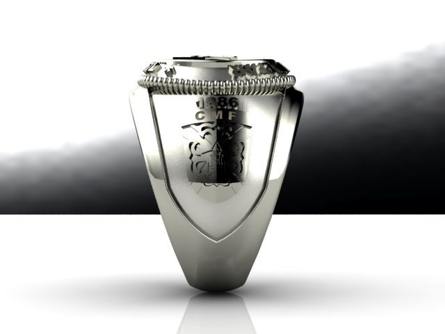 Silver Military College Ring - Ginglass Jóias