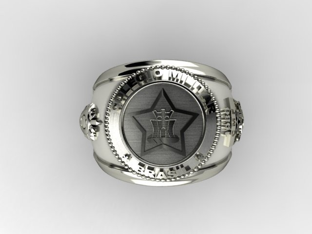 Silver Military College Ring