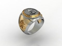 18k Gold Marine Corps Ring with Silver on internet