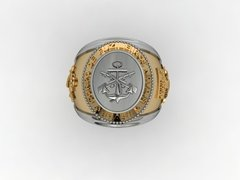 18k Gold Marine Corps Ring with Silver - buy online