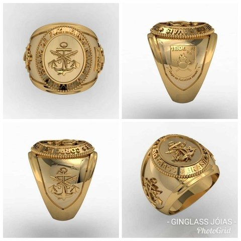 Gold Marine Corps Ring