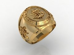 Gold Marine Corps Ring on internet