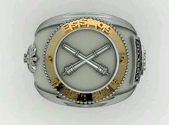 Ring Material of the School of Logistics sergeants in silver with detail in yellow gold - buy online