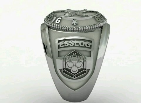 Belico Material Ring of the School of Silver Logistics sergeants