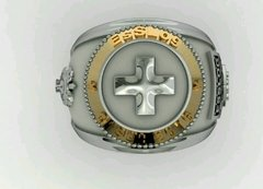 Health Ring of the School of Logistics sergeants in silver with 18k gold - buy online