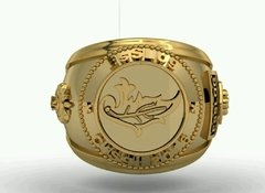 Ring Intendence of the School of Logistics sergeants in 18k gold - buy online