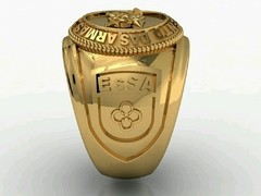 Cavalry ring of the School of arms sergeants in 18k yellow gold -  Ginglass personalização de joias