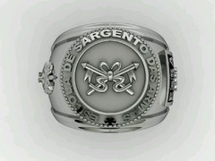 Cavalry ring of the School of weapons sergeants in silver - buy online