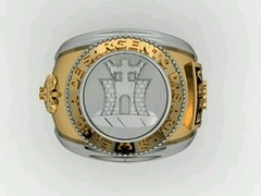Engineering Ring of the School of Weapons sergeants in Ouro18k with silver - buy online