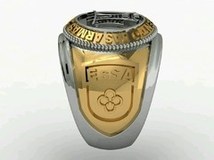 Engineering Ring of the School of Weapons sergeants in Ouro18k with silver on internet