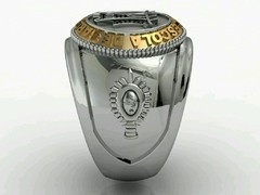 Engineering Ring of the School of Arms sergeants in silver in silver with 18k gold on internet