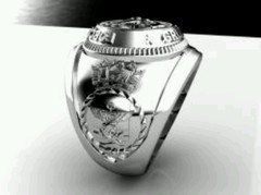 Sterling Silver Combat Divers Group Ring on internet