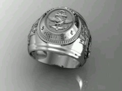Sterling Silver Combat Divers Group Ring -  Ginglass personalização de joias