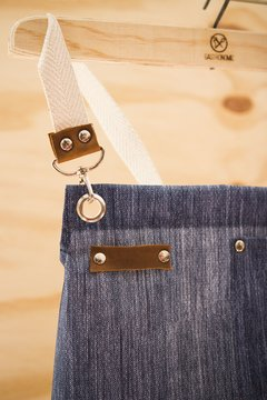 Delantal impermeable de jean.