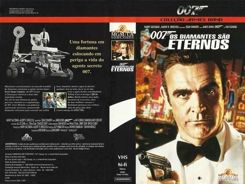 VHS 007 OS DIAMANTES SÃO ETERNOS 1998 LEGENDADO GRAV MGM/UA HOME