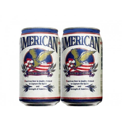 LATA AMERICAN BEER 355 ML ALUMÍNIO USA
