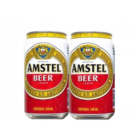 LATA AMSTEL BEER LAGER 330 ML ALUMINIO HOLAND