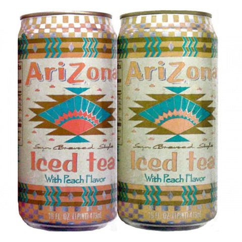 LATA REFRIGERANTE ARIZONA ICED TEA 473 ML ALUMÍNIO USA