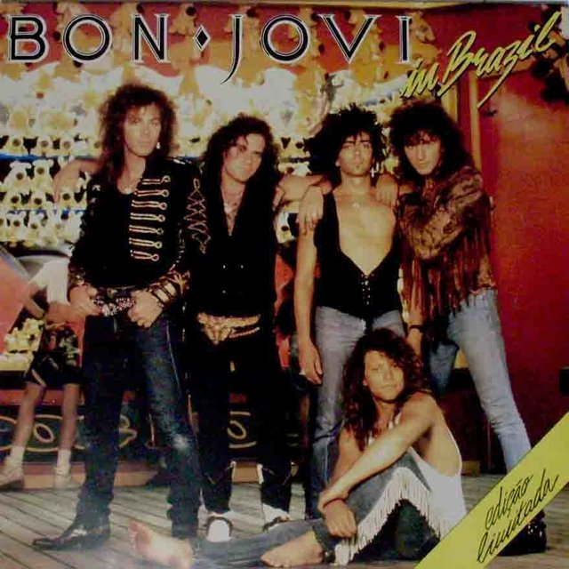 LONG PLAY BON JOVI IN BRAZIL 1989 ORIGINAL GRAV POLYGRAM DICOS