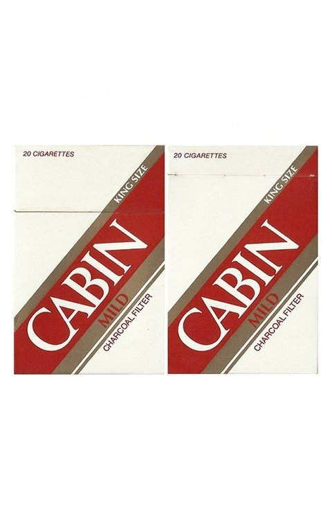 BOX CABIN MILD CHARCOAL FILTER J TOBACCOS JAPAN