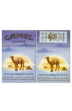 BOX VAZIO CAMEL LIGHTS AMERICAN BLEND R J REYNOLDS TOBACCO CO ESPAÑA