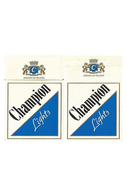 BOX CHAMPION LIGHTS FOR EXPORT SUDAN COM DE CIGARROS BRAZIL