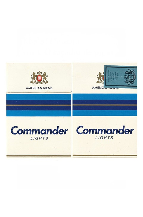 BOX COMMANDER LIGHTS AMERICAN BLEND PHILIP MORRIS MARKETING BRAZIL