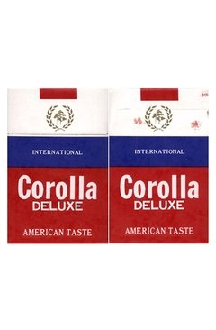 BOX VAZIO COROLLA DELUXE TASTE AMERICAN-GREEK TOBACCO MADE KOREA