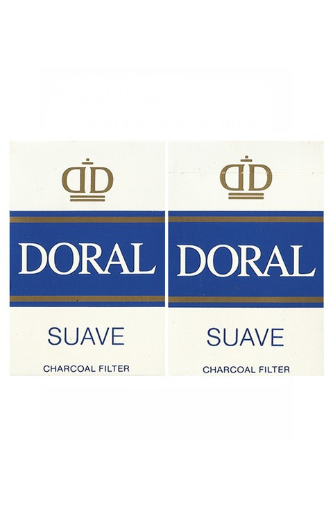 BOX DORAL SUAVE CHARCOAL FILTER R J REYNOLDS TOBACCO PARAGUAY