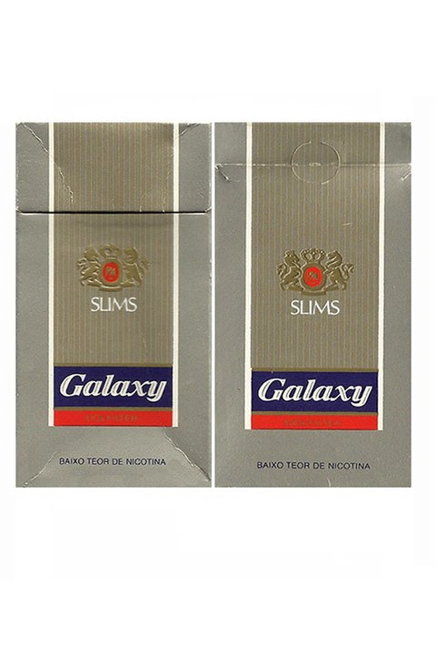 BOX GALAXY SLIMS 100's FILTER PHILIP MORRIS BRAS S/A BRAZIL