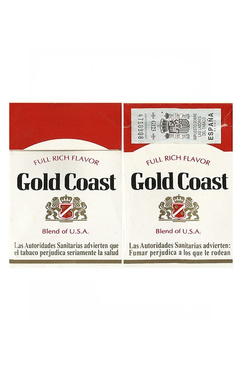 BOX GOLD COAST FULL RICH FLAVOR R J REYNOLDS SPAÑA BLEND USA