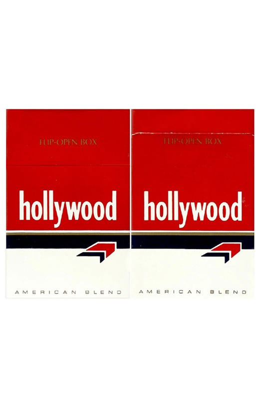 BOX HOLLYWOOD AMERICAN BLEND VIRGINIA & BURLEY TOBACCOS USA