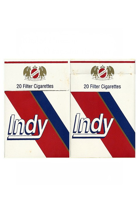 BOX INDY FILTER CIGARETTES MADE BY TANASA PARAGUAY