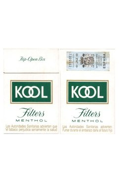BOX VAZIO KOOL FILTERS MENTHOL BROWN & WILLIAMSON TOBACCO CO ESPAÑA