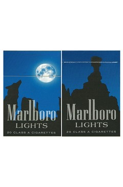 BOX VAZIO MARLBORO FILTER LIGHTS PHILIP MORRIS MARKETING BRASIL