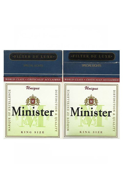BOX MINISTER UNIQUE KING SIZE CIA CIGARRILLOS TABO PARAGUAY