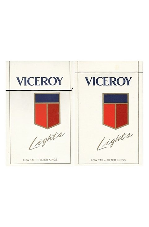 BOX VICEROY LIGHTS FILTER KINGS BROWN & WILLIAMSON TOBACCO USA