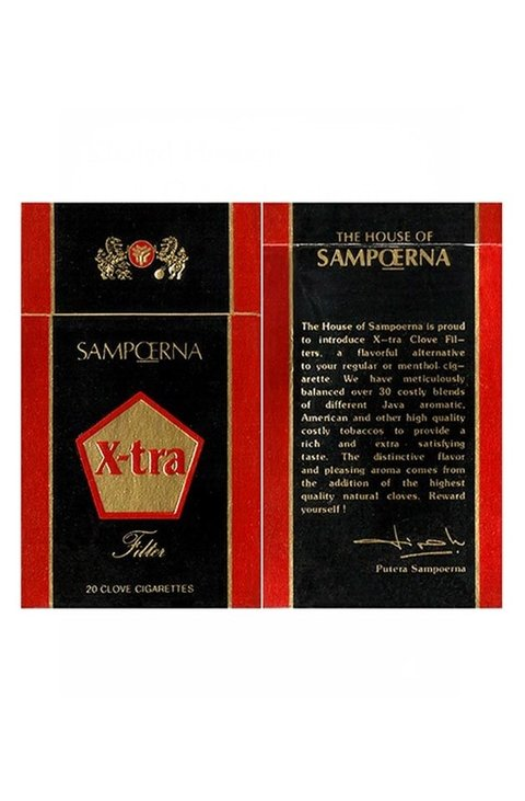 BOX X-TRA CLOVE FILTERS THE HOUSE SAMPOERNA INDONESIA